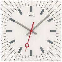 Nástěnné hodiny čtvercové ams 9576 bílá