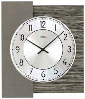 Nástěnné hodiny čtvercové ams 9584 dekor dřevo