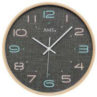 Nástěnné hodiny kulaté ams 5513, rádiem řízené