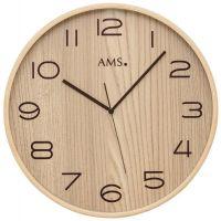 Nástěnné hodiny kulaté ams 5514, rádiem řízené