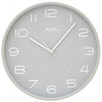 Nástěnné hodiny kulaté ams 5521, rádiem řízené
