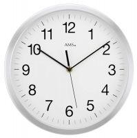 Nástěnné hodiny kulaté ams 5541, rádiem řízené dekorace hliník