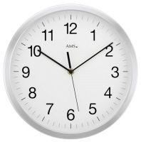 Nástěnné hodiny kulaté kovové ams 5524, rádiem řízené velké