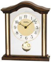 Stolní hodiny klasik quartzové pendlovky ams 1174/1 ořech