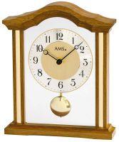 Stolní hodiny klasik quartzové pendlovky ams 1174/4 dub