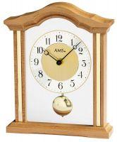 Stolní hodiny klasik quartzové pendlovky ams 1174/18 buk