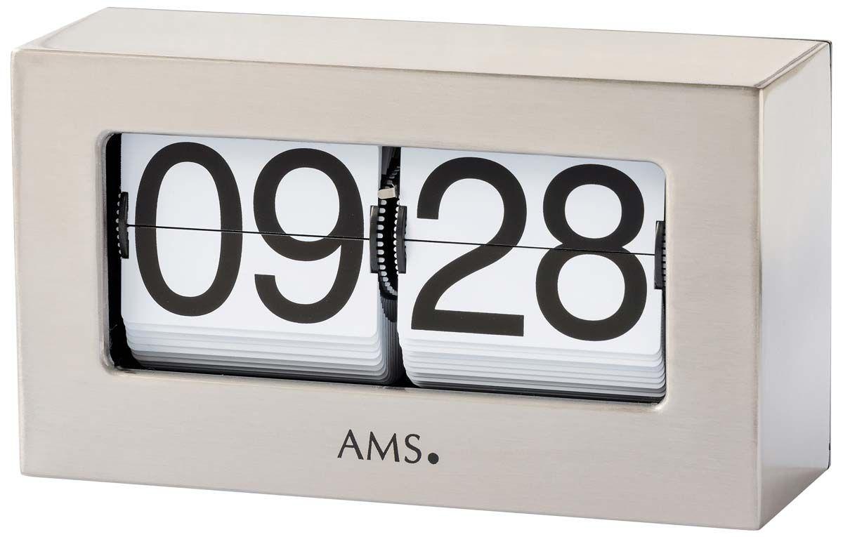 Stolní hodiny kovové ams 1175 stříbrná barva