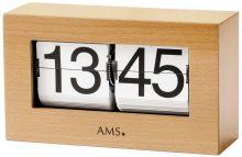 Stolní hodiny quartzové - překlápěcí klasik ams 1175/18 buk