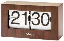 Stolní hodiny quartzové - překlápěcí klasik ams 1177 dekor ořech