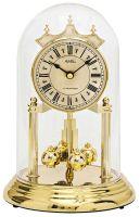 Stolní hodiny ročky ams 1204 oválné barva zlatá