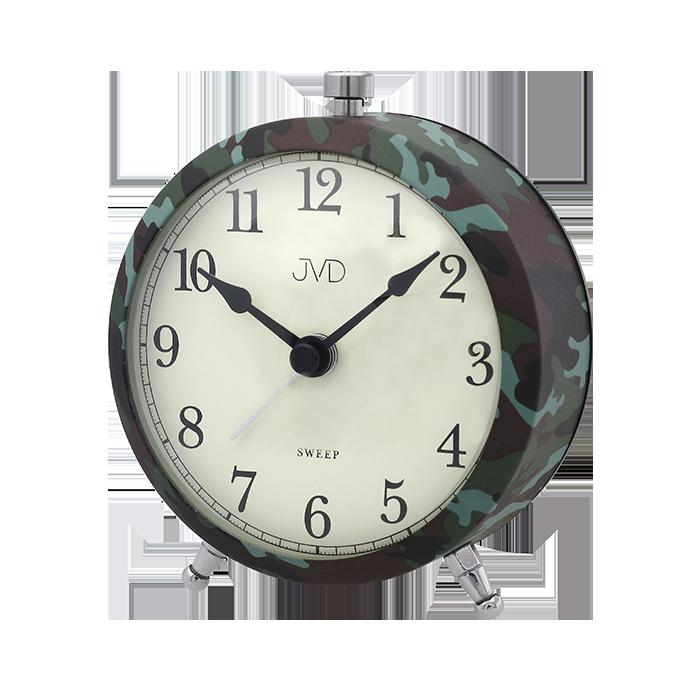 Nástěnné hodiny Budík JVD maskáčový tmavý SRP2409.2 Nástěnné hodiny