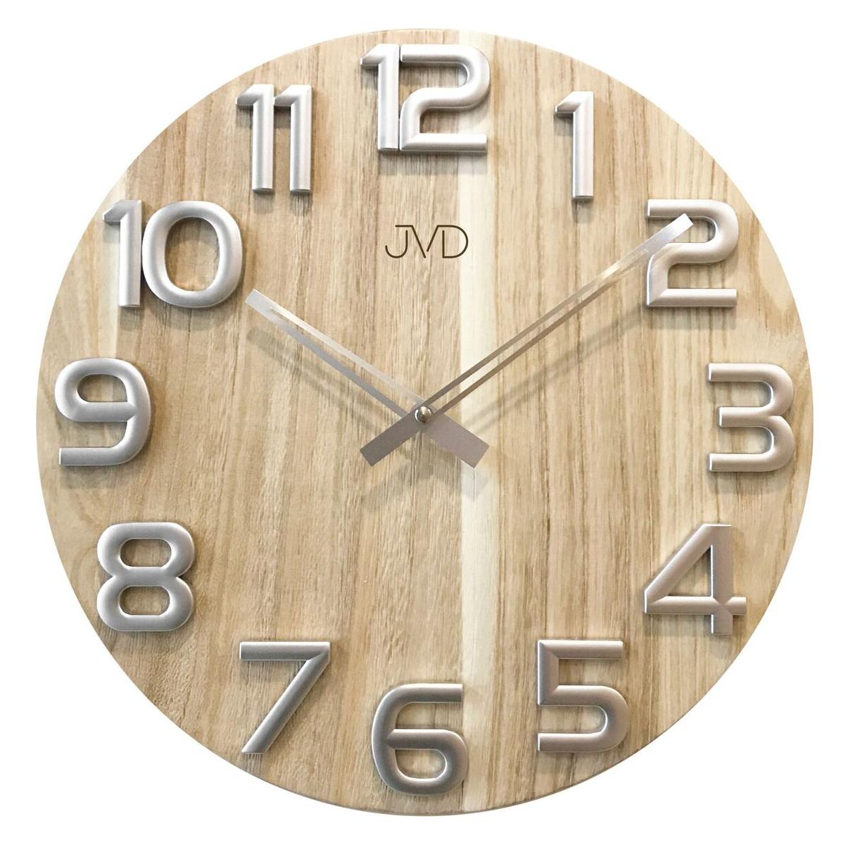 Nástěnné dekorativní hodiny dřevěné JVD HT97.2