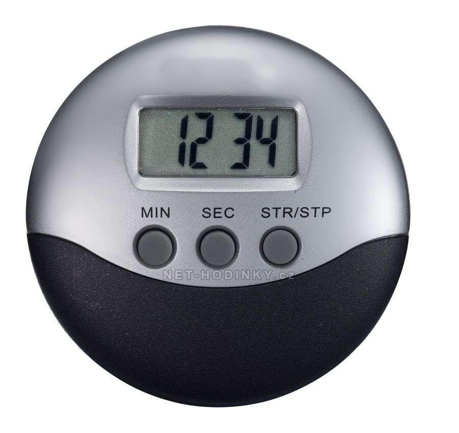 Digitální minutka KZW-D stříbrná barva, minutovník, minutka