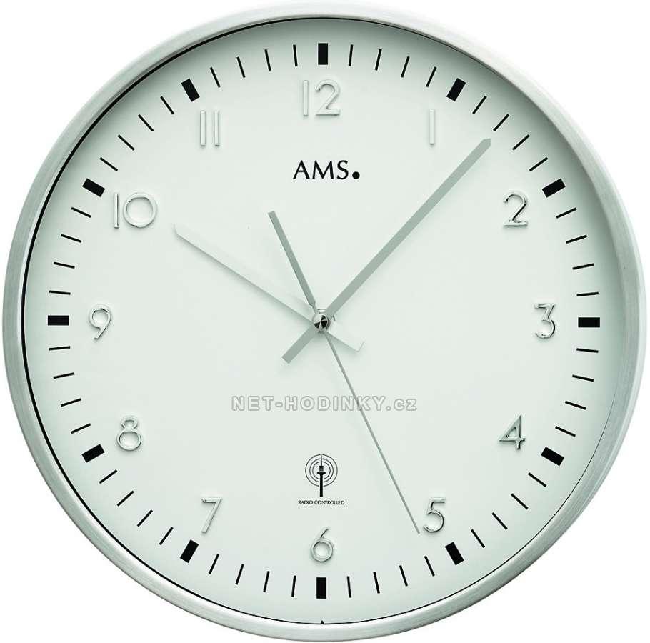 AMS Nástěnné hodiny na stěnu, nástěnné hodiny na zeď rádiem řízený čas