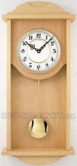 Hodiny na zeď, pendlovky, kyvadlové hodiny na stěnu barva buk