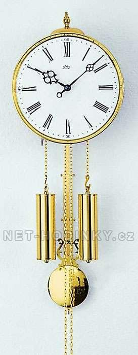 Hodiny mechanické nástěnné mosaz AMS 348, hodiny na zeď, kyvadlové hodiny