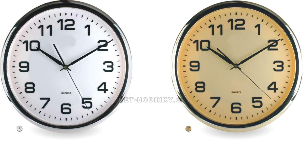 Hodiny nástěnné plastové 966-S. 2kulaté, hodiny na zeď