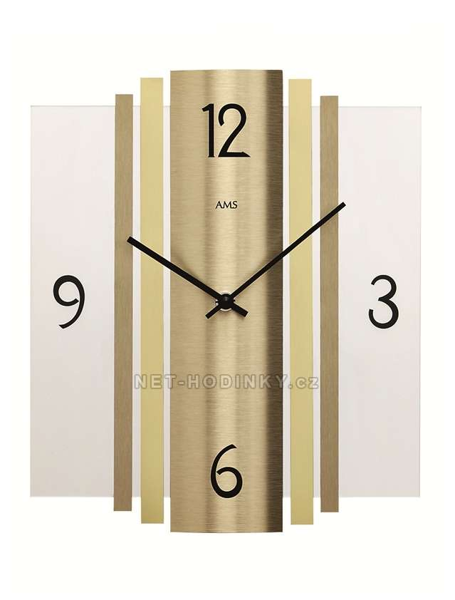 Hodiny quartzové AMS 9391 hodiny na zeď hranaté