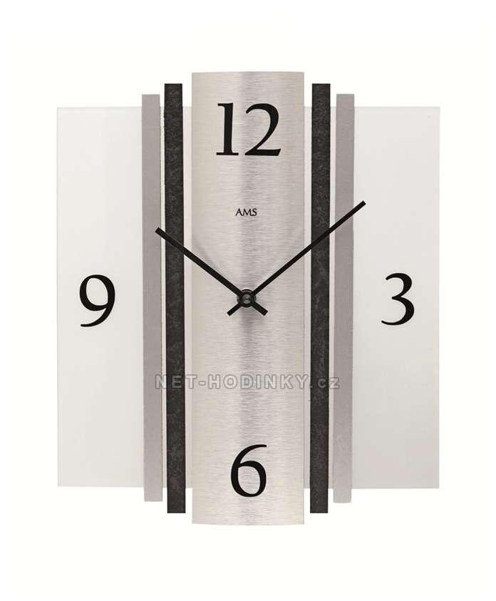 Hodiny quartzové AMS 9392 hodiny na zeď hranaté