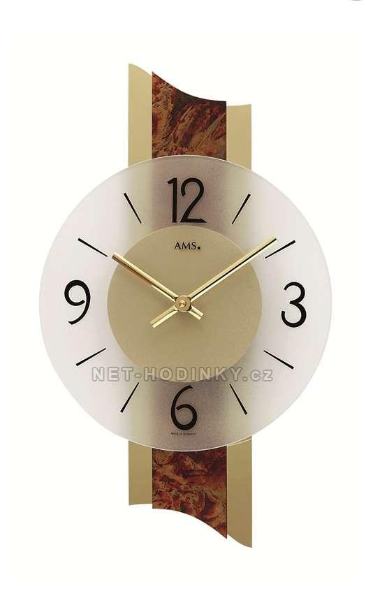 Hodiny quartzové AMS 9393 hodiny na zeď kulaté