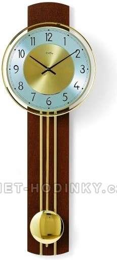 Kyvadlové hodiny AMS 7115/9 třešeň, 7115/18 buk, 7115/1 ořech hodiny na zeď, pendlovky AMS 7115/1 ořech