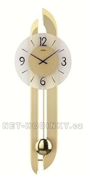 Kyvadlové hodiny pendlovky AMS 7331 zlatá, hodiny na zeď