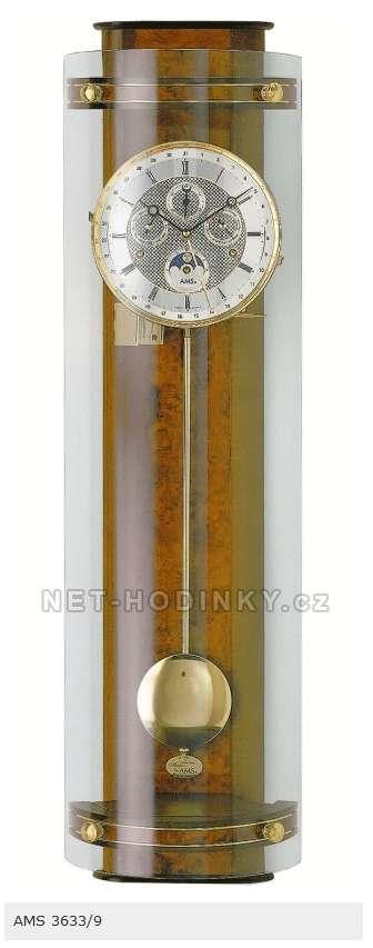 Mechanické kyvadlové luxusní hodiny AMS 3633/1 ořech, AMS 3633/9 třešeň AMS 3633/9 třešeň
