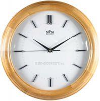 Moderní nástěnné hodiny ze dřeva kulaté M703-S.02