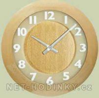 Nástěnné hodiny Dřevěné nástěnné hodiny na zeď 4324.4 skladem tmavá varianta H&H Nástěnné hodiny