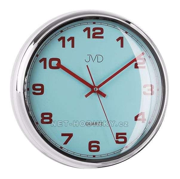 JVD Nástěnné plastové hodiny sweep HA4.1 modrá, HA4.2 bílá, HA4.3 červená HA4.1