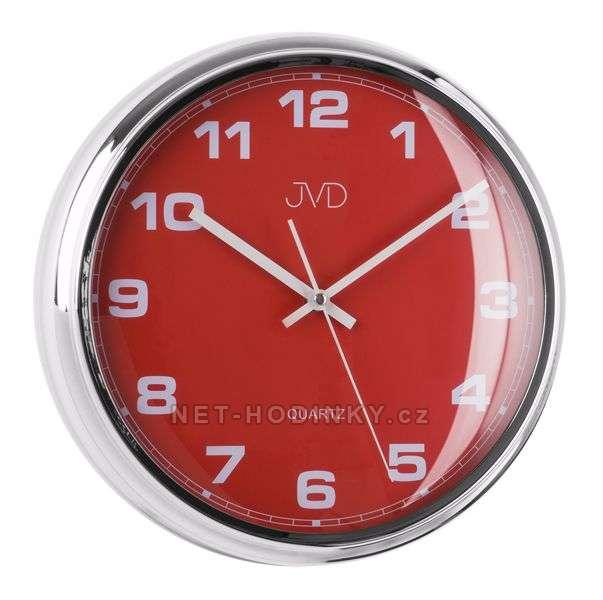JVD Nástěnné plastové hodiny sweep HA4.1 modrá, HA4.2 bílá, HA4.3 červená HA4.3