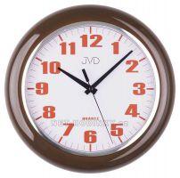 Nástěnné plastové hodiny sweep HA5.1 hnědá, HA5.2 bílá, HA5.3 zelená JVD