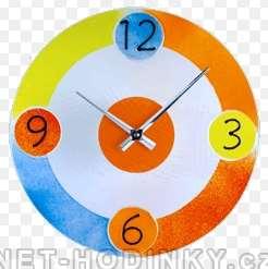 Skleněné nástěnné hodiny na zeď 1152 barevné