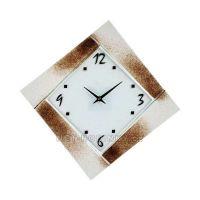 Nástěnné hodiny čtvercové 1177.3 oranžová, 1176.4 hnědá