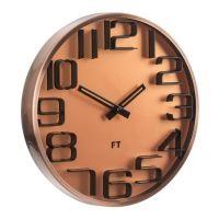 Designové nástěnné hodiny Future Time FT7010CO Numbers copper 30cm