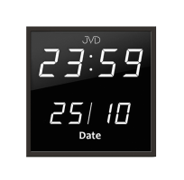 Digitalní hodiny hranaté s kalendářem JVD  Led DH41.2 bílá čísla