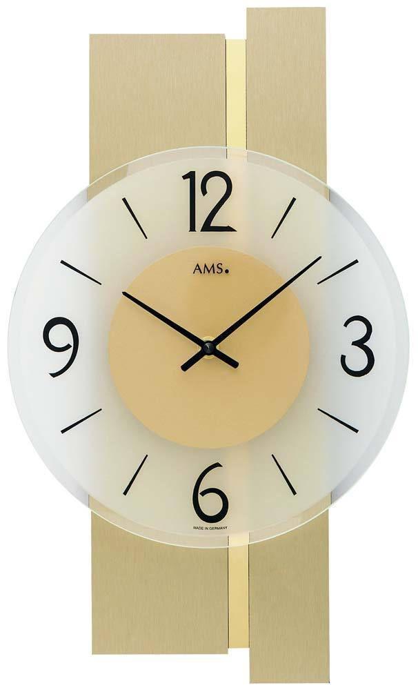 Designové nástěnné hodiny AMS 9555 moderní, zlaté