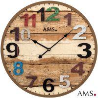 Designové nástěnné hodiny AMS 9539
