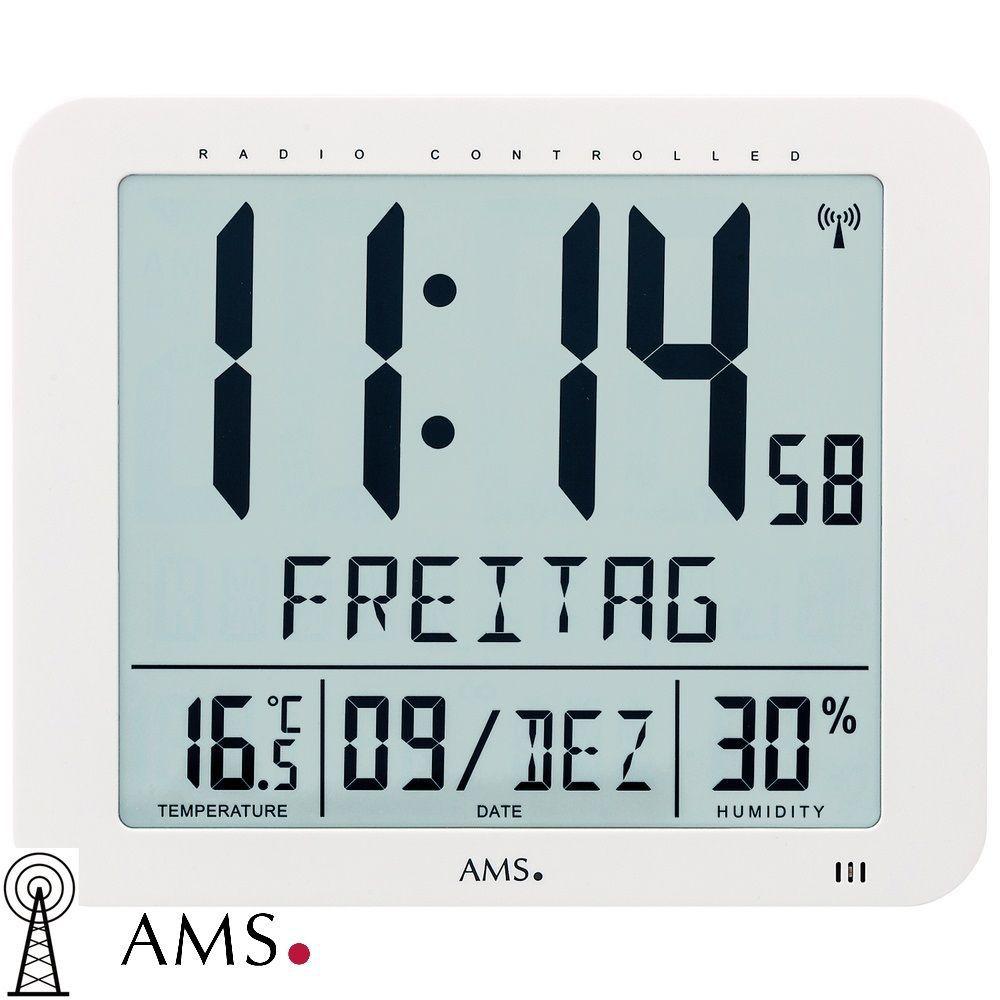 Digitální nástěnné hodiny AMS 5886 řízené rádiovým signálem