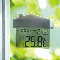 Venkovní okenní teploměr Domeček včetně baterie
