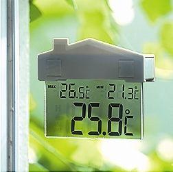 Digitální okenní teploměr venkovní Domeček