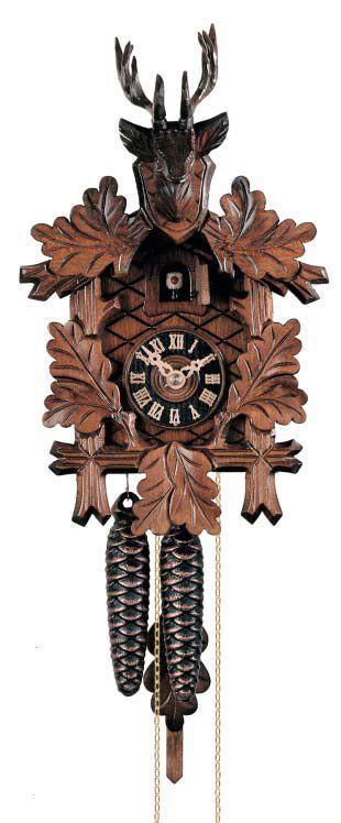 K1223 - Kukačkové hodiny vyřezávané Hönes s jednodenním strojkem