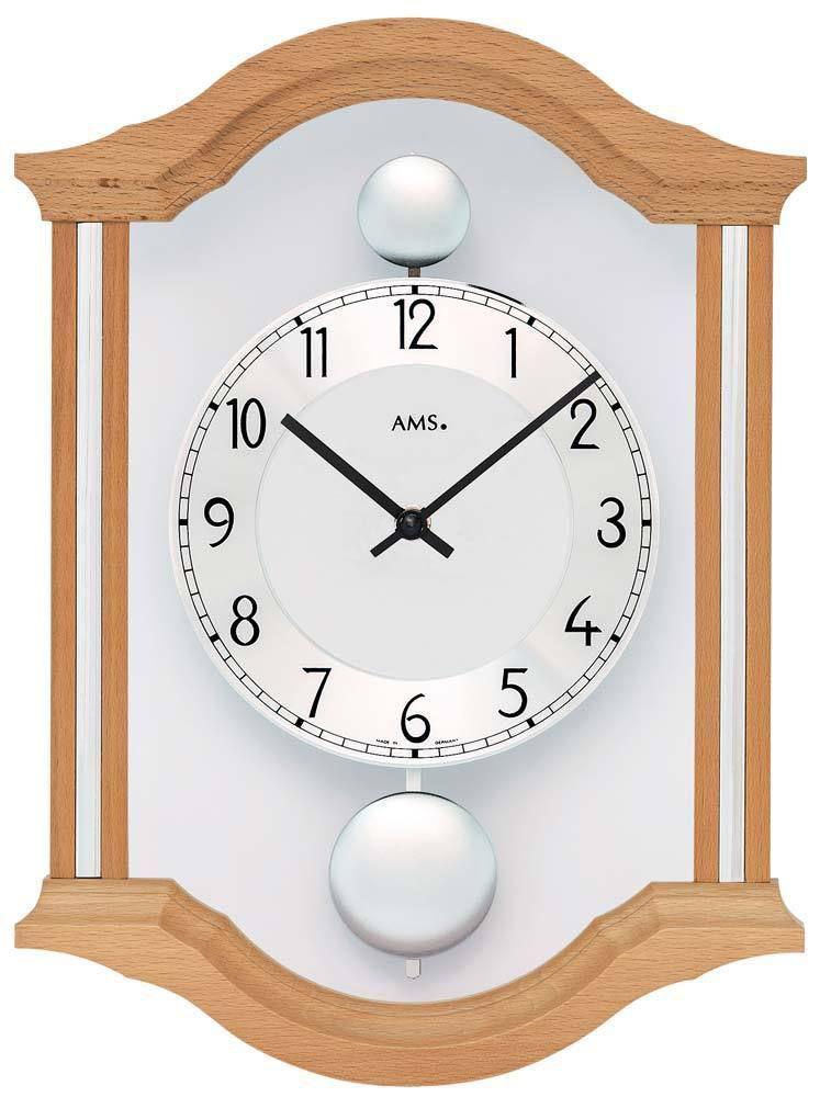 Nástěnné kyvadlové hodiny AMS 7447/18
