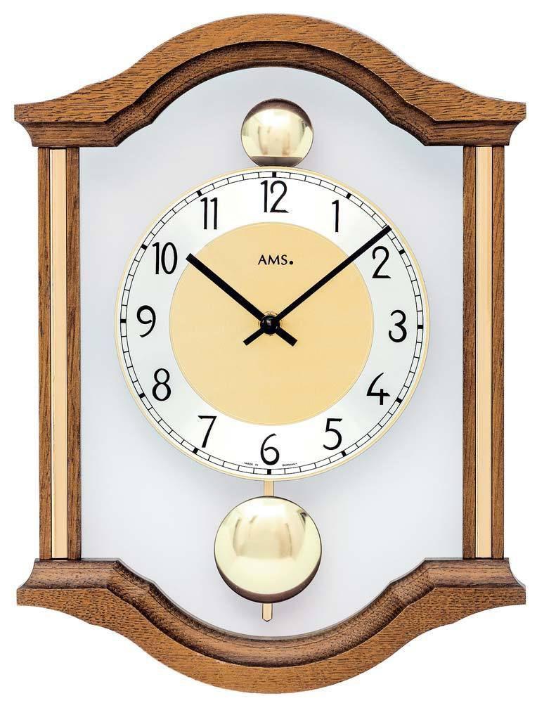 Nástěnné kyvadlové hodiny do obýváku AMS 7447/4