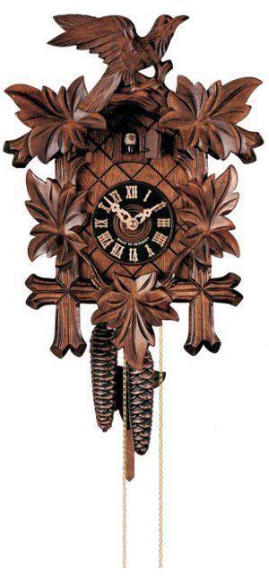 No. 100/4 - Kukačky hodiny kyvadlové mechanické Hönes s jednodenním strojkem
