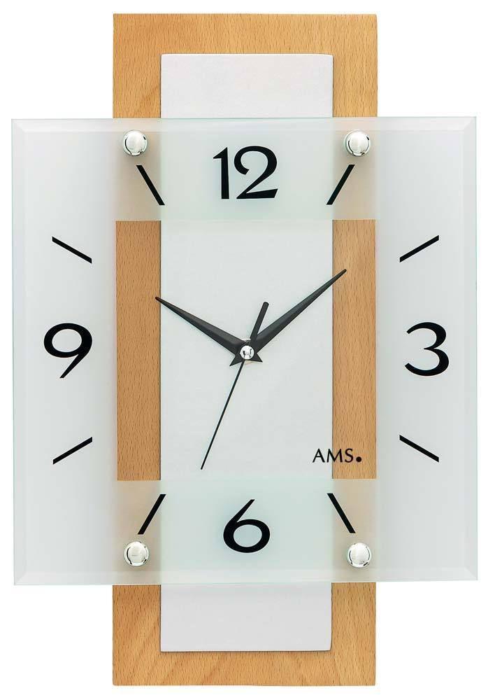 Rádiem řízené nástěnné hodiny AMS 5507