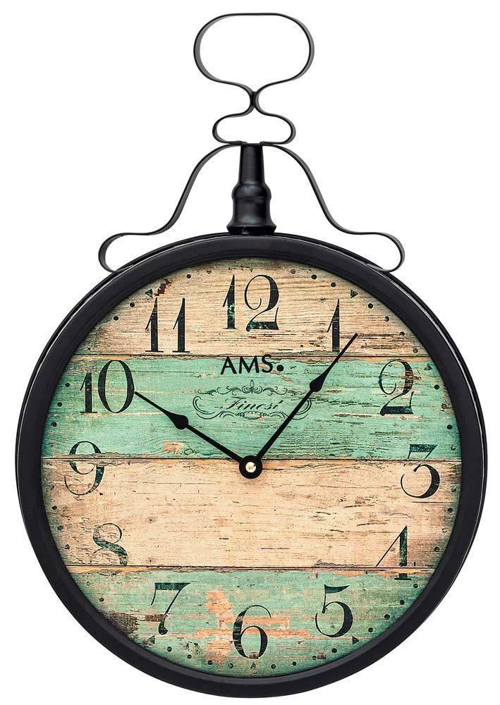 Retro kovové nástěnné hodiny AMS 9532