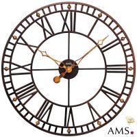 Kovové nástěnné hodiny AMS 9537