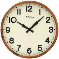 Dřevěné nástěnné hodiny AMS 9535