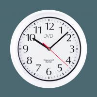 Nástěnné vodotěsné plastové hodiny SH494 bíla barva